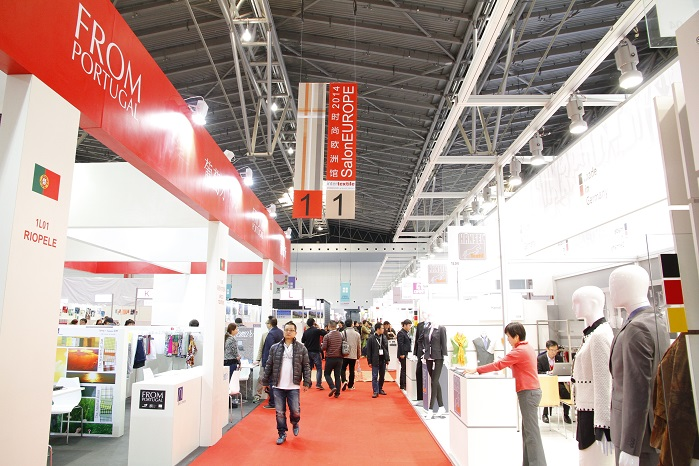 SalonEurope and Portugal pavilion. © Messe Frankfurt / Intertextile Shanghai Apparel Fabrics – Spring edition